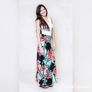 Honey And Lace Floral Maxi Skirt Or Midi Dress Sm